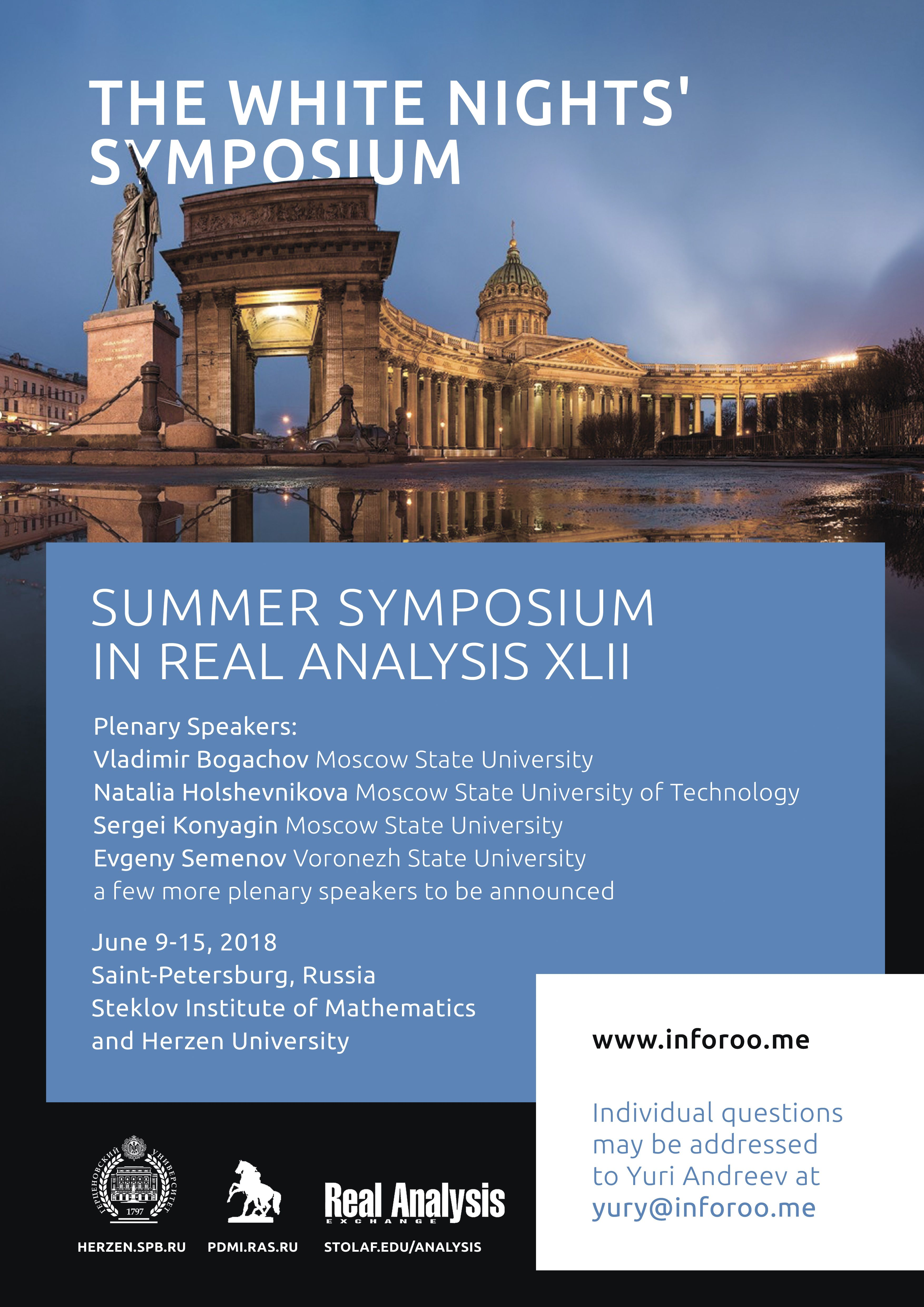 Event: 42-nd Summer Symposium in Real Analysis | EMS