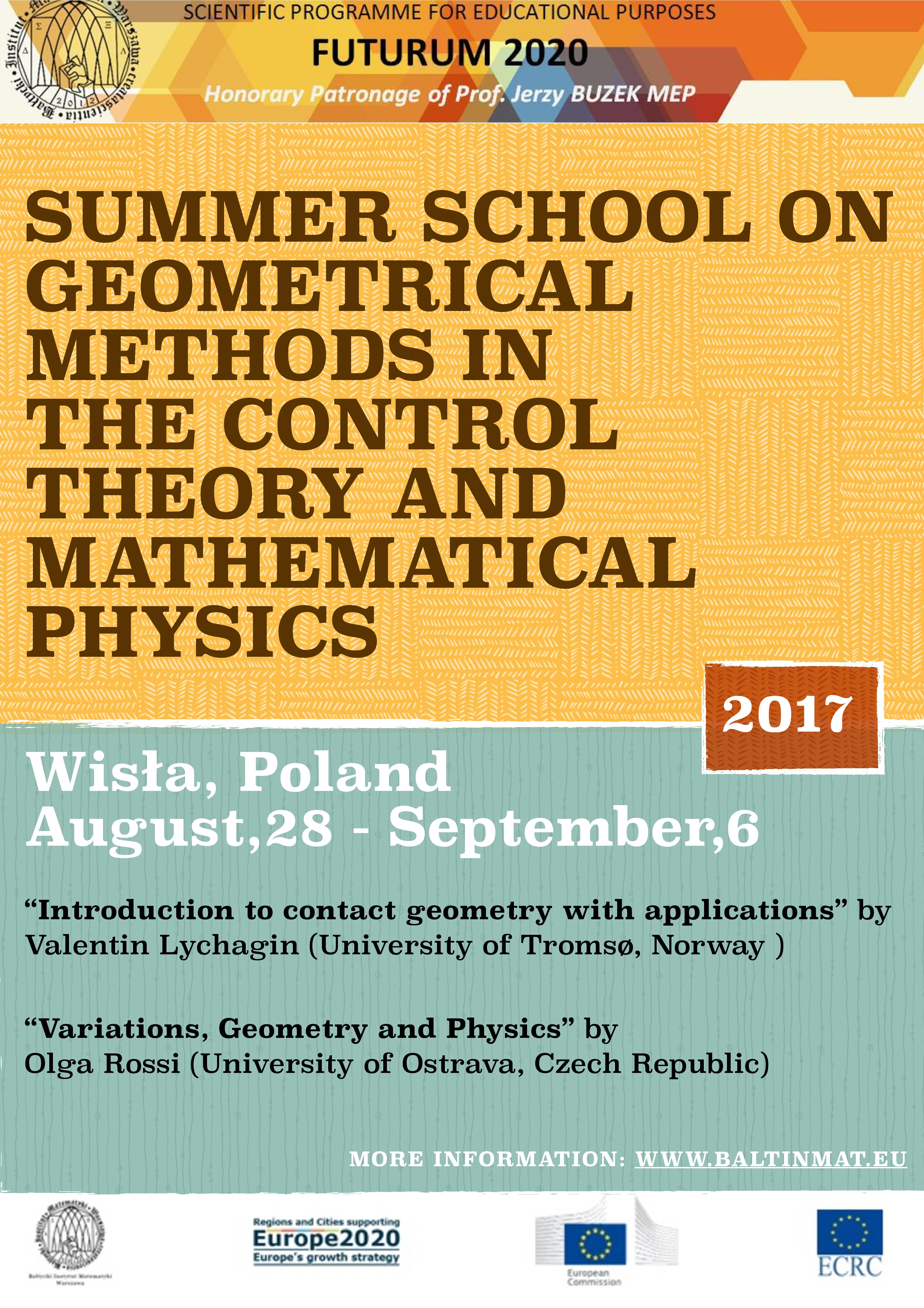 Event: Summer school on geometrical methods in control theory and ...